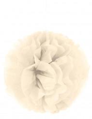 Aufhäng-Deko Pompom beige Crèmefarben 35 cm