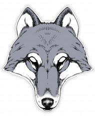 Wolf Maske aus Pappkarton
