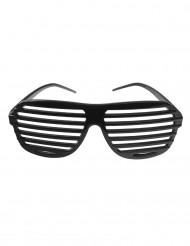 Schwarze gestreifte Brille