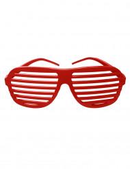 Rote gestreifte Brille
