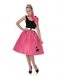Fuchsiafarbenes 50er Jahre Kostüm für Damen