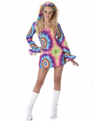 Psychedelisches Hippie Kostüm für Damen