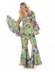 Blumiges hippie Kostüm für Damen