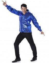 Blaues Discohemd mit Pailetten für Männer