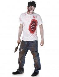 Zombie Kostüm für Herren mit Latexeinsatz