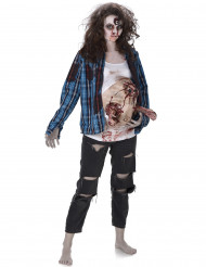 schwangere Zombie Frau Halloween mit Latex-Bauch