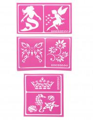 6 Schminkschablonen für Mädchen Snazaroo™