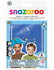 6 Schminkschablonen für Jungen Snazaroo™