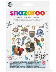 20 temporäre Tatoos für Mädchen Snazaroo™Jungen