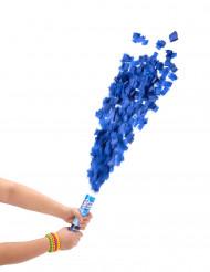 Blaue Konfettikanone