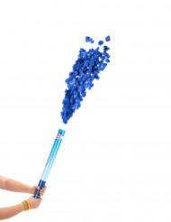 Blaue Konfetti Kanone