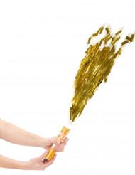 Konfettikanone in gold