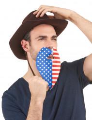 Amerikanischer Fan-Bart für Erwachsene