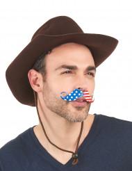 Amerikanischer Fan Schurrbart für Erwachsene