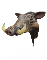 Handbemalte Wildschwein-Maske aus Latex