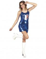 Blaues Frankreich-Kleid für Damen