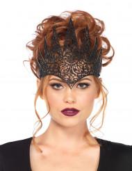 Düstere Königin Krone Kostüm-Accessoire Hexe-Magierin schwarz