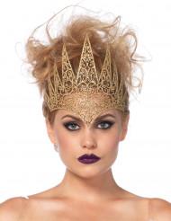 Märchenhafte Krone Kostüm-Accessoire für Damen gold