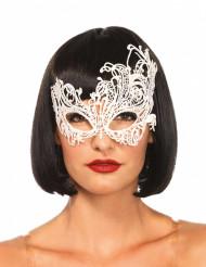 Venezianische Augenmaske aus weißer Spitze