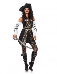 Elegantes Piratin Kostüm barock