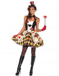 Königin der Herzen Damenkostüm mit Schulterklappen