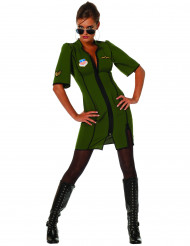 Flugzeug-Pilotin Kostüm für Damen