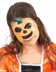 Kürbis-Maske mit Pailletten für Kinder - Halloween
