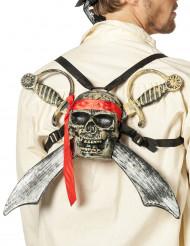 Rückenschmuck Piratenschädel mit Säbeln