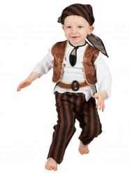 Braunes Piratenkostüm für Kleinkinder
