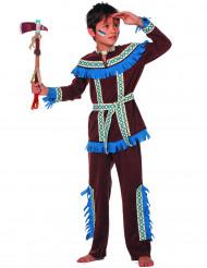 Indianer Kostüm für Jungen blau