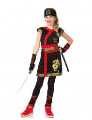 Ninja Kostüm für Mädchen - Goldener Drache
