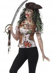 T-Shirt Zombie Piratin für Erwachsene