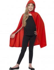 Umhang mit Kapuze Kostüm-Zubehör für Kinder rot