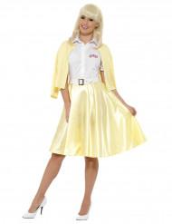 Grease™ Sandy Kostüm für Damen 50er-Jahre-Verkleidung gelb-weiss