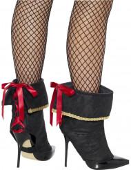 Sexy Piratin Stiefelgamaschen
