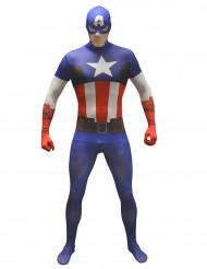 Captain America™ Morphsuit™ Kostüm für Erwachsene