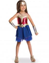 Wonder Woman™ Kostüm für Mädchen Lizenz-Verkleidung blau-gold-rot
