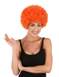 Afro-Perücke Clown orange für Erwachsene