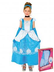 Blaues Märchenprinzessin Kleid für Mädchen