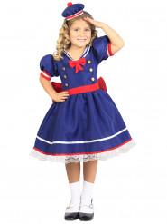 Matrosen-Kostüm für Mädchen blau-rot-weiss