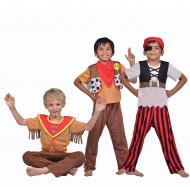 3 in 1 Kinderkostüm - Pirat, Sheriff, Indianer