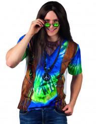 Blaues Hippie T-Shirt für Erwachsene