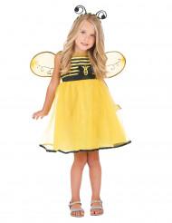 Niedliches Bienenkostüm Kleid für Mädchen gelb