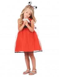 Entzückendes Marienkäfer-Kostüm für Mädchen rot-schwarz