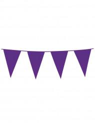 Wimpel-Girlande - violett