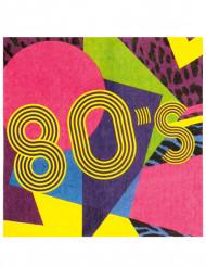 12 Papier Servietten 80er Jahre