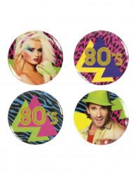 4 80er Jahre Pins