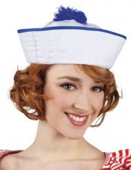 Weiß-blauer Matrosenhut für Damen