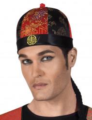 Chinesicher Hut mit Haarflechte