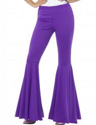 Disco-Schlaghose violett